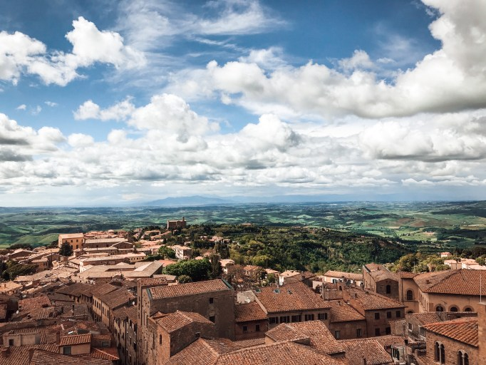 Picture of the medieval town of volterra italy