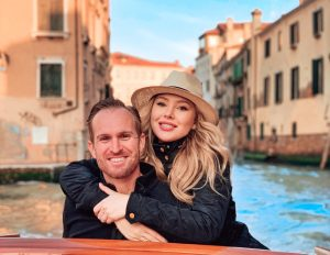 Picture of Jeff and Tiffany on a boat in Venice Italy