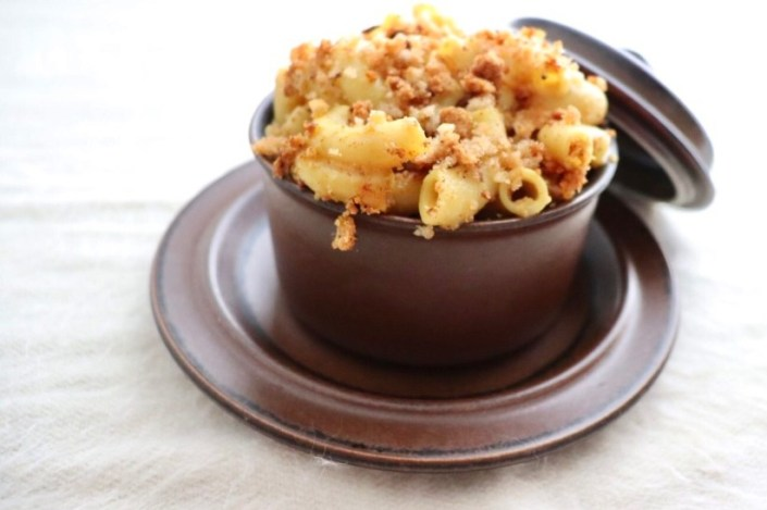 Picture of vegan truffle macaroni and cheese