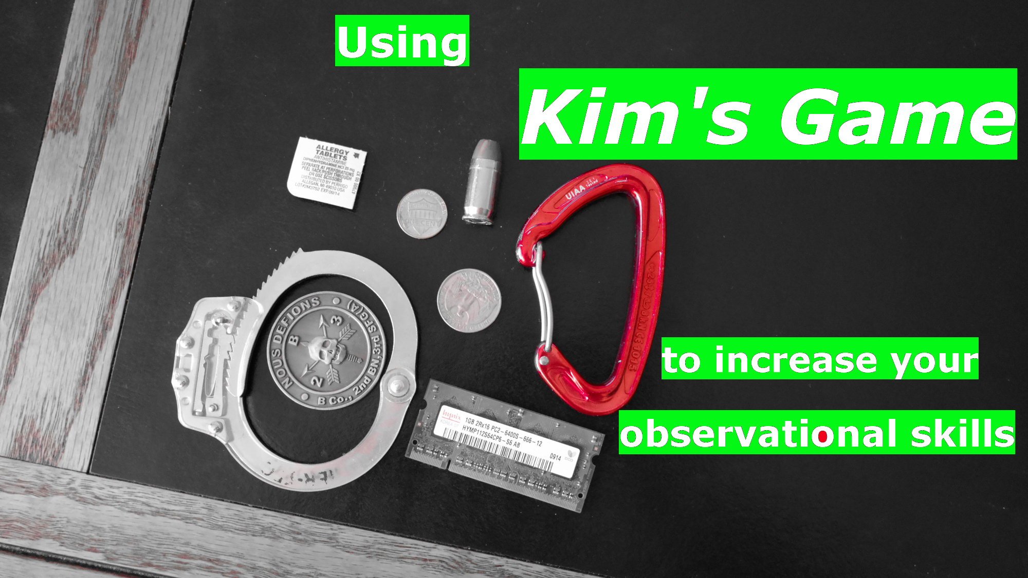 Using Kim S Game To Increase Your Observational Skills