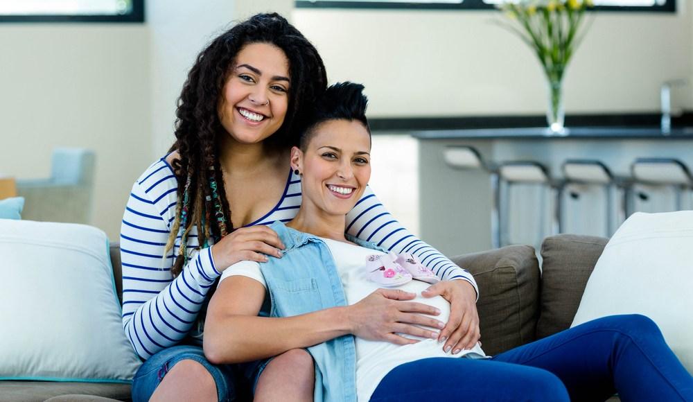 Happy same-sex couple