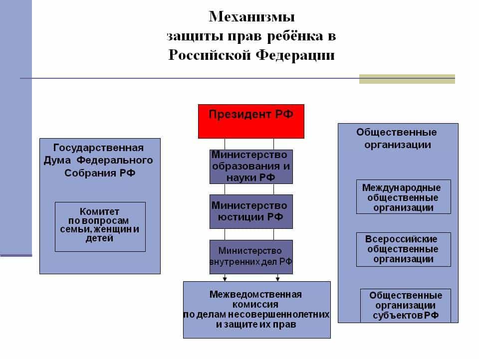организации по защите детей в россии