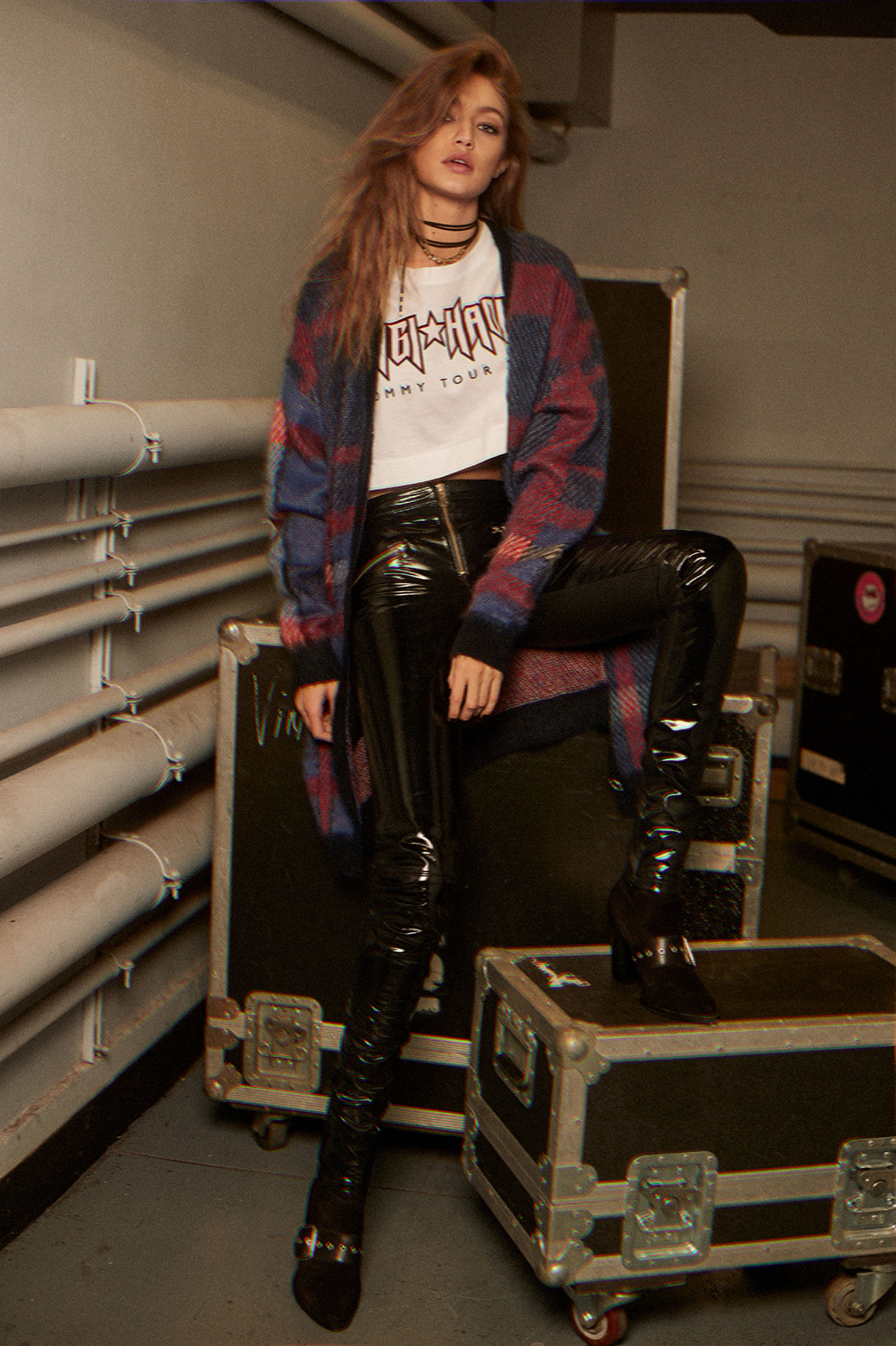 f509b6565 Exclusive behind-the-scenes images of Gigi Hadid in the Tommy ...