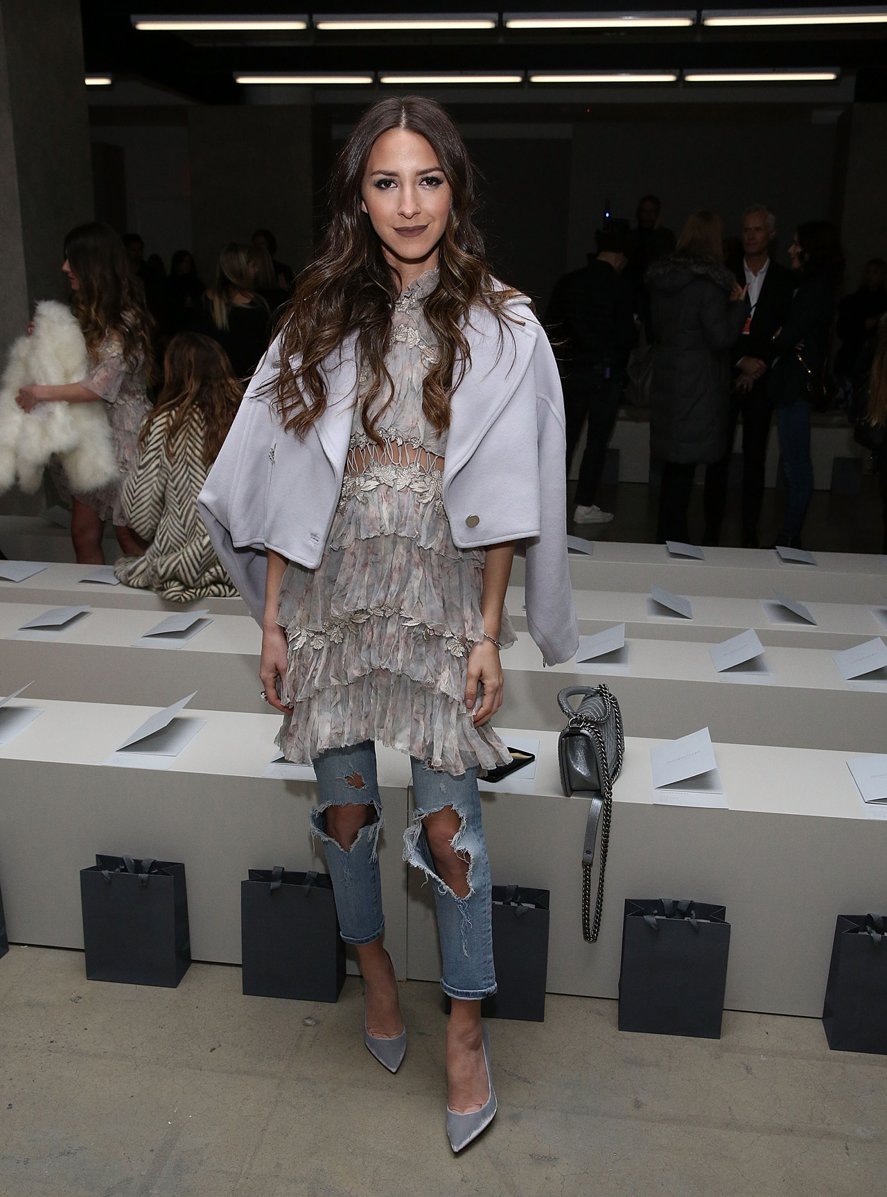 5d86682cef8e Influencer Arielle Noa from Something Navy (with 972K followers and  counting) wore Zimmermann's Stranded Tier Mini Dress (SHOP NOW).