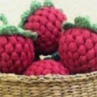 Amigurumi Crochet Raspberry ☕