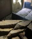 Graziella Reggio, dittico letto-rocce, cm 160x120