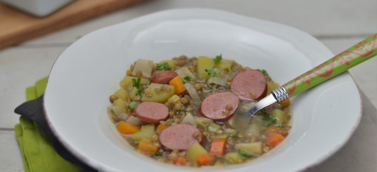 Für jeden Tag: Linsensuppe mit Frankfurter Rindswurst