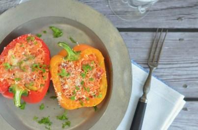 Vegetarisch Kochen: gefüllte Paprika