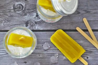 ein leckeres Smoothie-Eis mit Kiwi und Orange