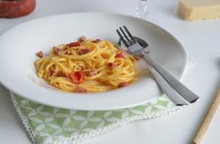 Eine leckere Chorizo-Carbonara für jeden Tag