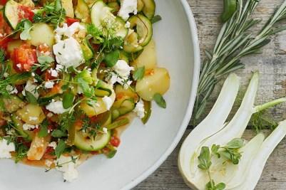 Mediterranes Gemüse mit Fetawürfel