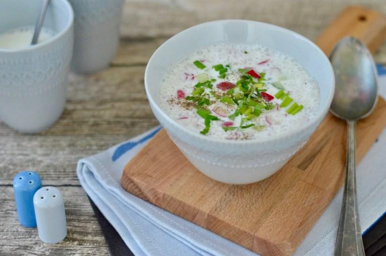 Joghurt-Gazpacho mit knackigem Gemüse