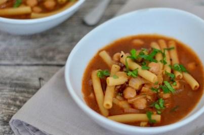 Soulfood: Kichererbsen-Eintopf mit Pasta