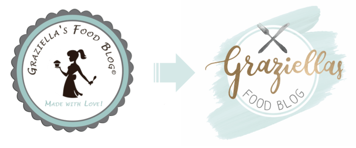 Graziellas Food Blog: Altes vs. neues Logo