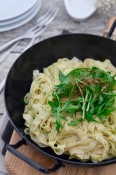 Prep&Cook Weekend Kitchen: #4 Tagliatelle mit Rucola-Walnuss-Pesto