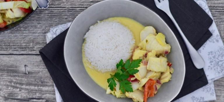 Soulfood: Gelbes Thai-Curry mit Kabeljau & Gemüse