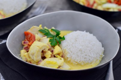 Happy Food: Gelbes Thai-Curry mit Kabeljau & Gemüse