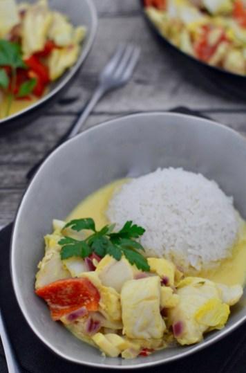 Happy Food: Gelbes Thai-Curry mit Kabeljau & Gemüse