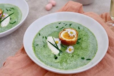 Prep&Cook Weekend Kitchen #14: Gründonnerstagssuppe mit frittiertem Ei