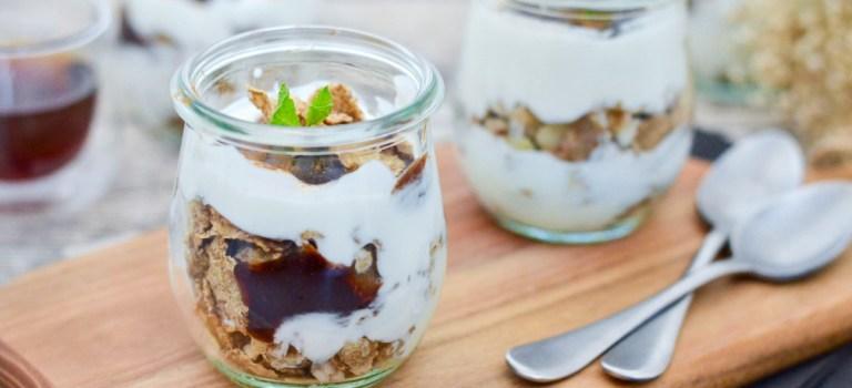 Mein Ostermenü – Dessert: Schichtjoghurt mit Pflaumenmus