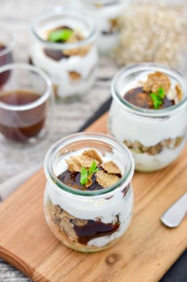 Mein Ostermenü - Dessert: Schichtjoghurt mit Pflaumenmus