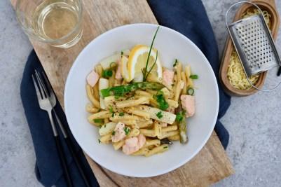 Prep&Cook Weekend Kitchen #15: One-Pot-Pasta mit Lachs & zweierlei Spargel