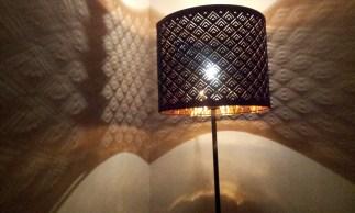 The lamp in the corner