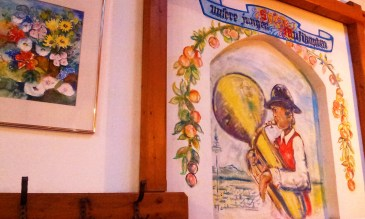 The nice folklore on the wall - traditional Styrian dresses