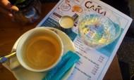 The Verlängerter Coffee on the menu