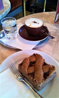 The Cappuccino and Linzer Tart