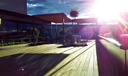The Airea 55 sun terrace at the rooftop