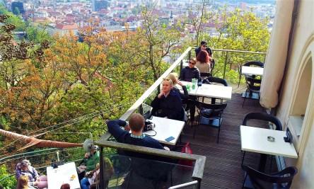 The sun terrace itself adjunct to the Starcke Haus