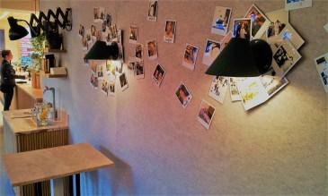 The photos on the wall