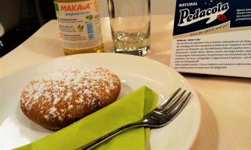 The Mohnzelt - poppy-seed filled pastry and a Makava Ice Tea