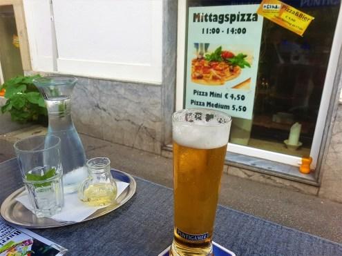 The Elderberry Juice and a Puntigamer Radler (half lemonade, half beer) a traditional Grazer beer