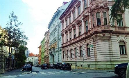 The facades of these lovely buildings from more than 100 year ago are very well restored