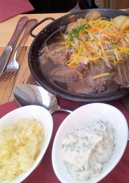 In terms of poshness, here is the most famous Austrian dish - The Tafelspitz (Prime Boiled Beef)