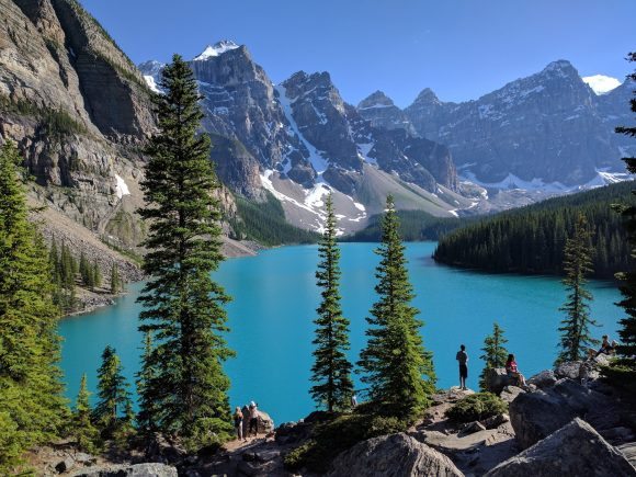 """Stunning views at the end of the """"Rockpile"""" trail.  Lake Moraine, Banff National Park"""