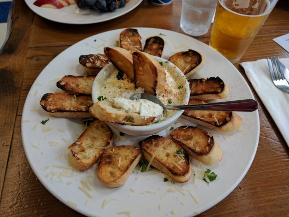 Dungeness Crab, Shrimp & Cheese Dip at Ocean Bleu Seafoods at Gino's