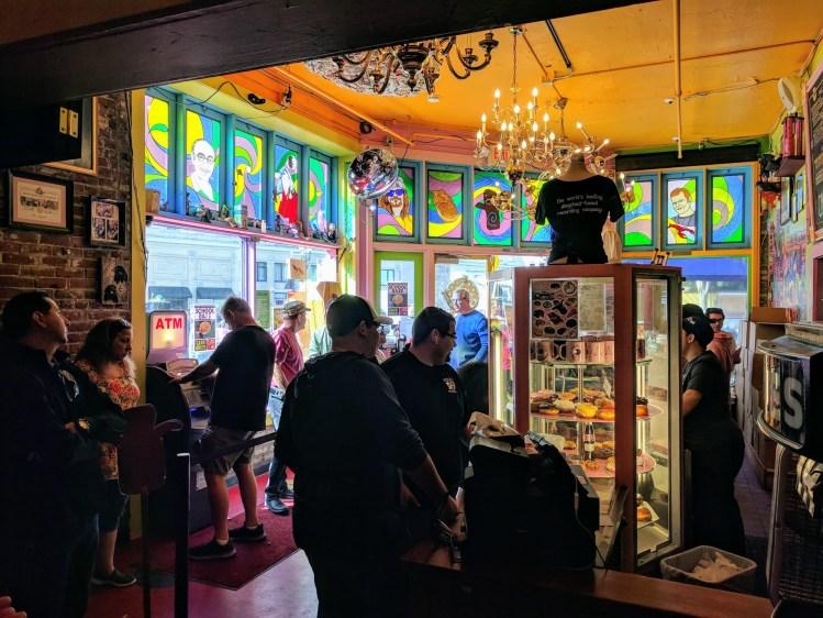 Inside Voodoo Doughnut, Portland