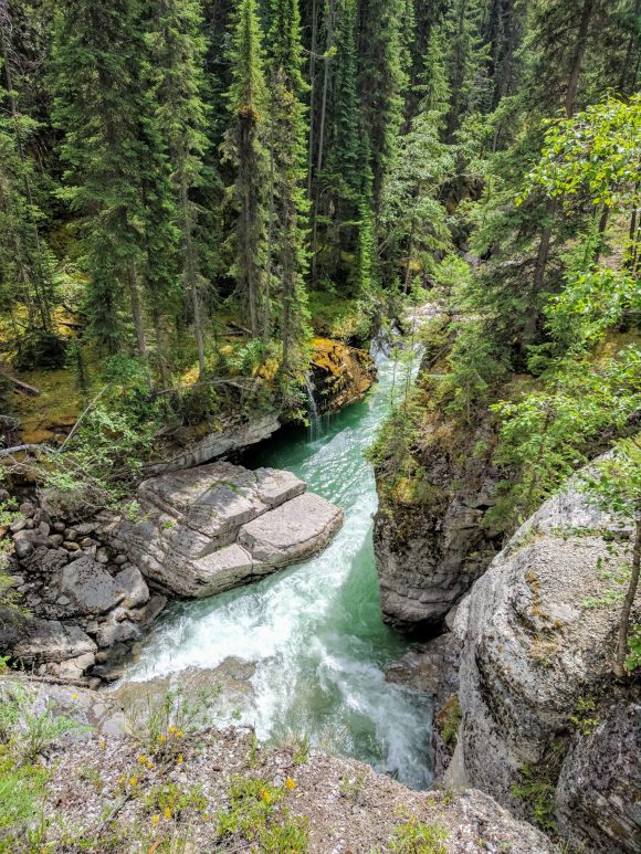 Maligne Canyon, on the way to the 4th bridge. Jasper National Park