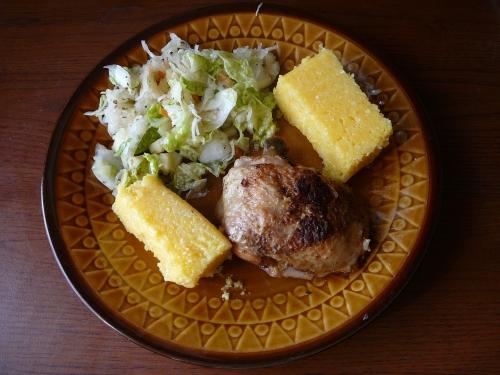 polenta z kurczakiem