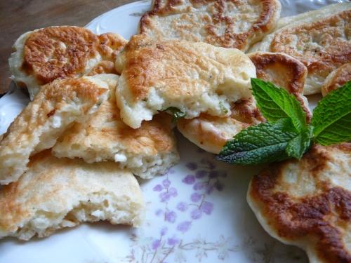 placuszki z serem i mietą1