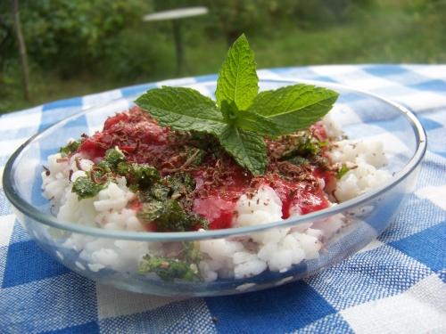 deser ryżowy z miętą