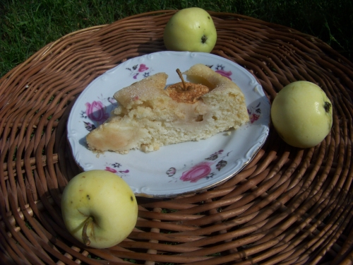 placek z całymi jabłkami 1