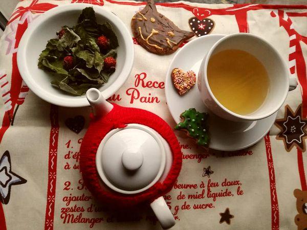 herbatka z róży z liśćmi
