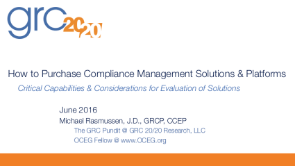 2016-06 How to Purchase Compliance Management Solutions & Platforms