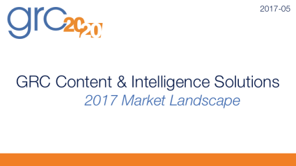 2016-07 2016 GRC Content & Intelligence Market Overview