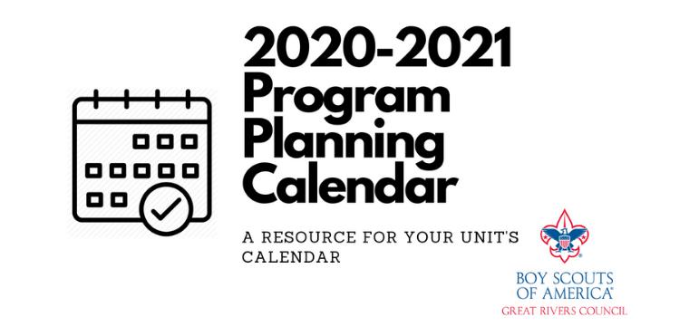 proram planning calendar banner