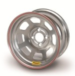 Bassett 14 x 7 x 3.625 Spun Silver 4 on 4-1/4 Wheel